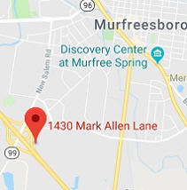 Map of Murfreesboro facility location