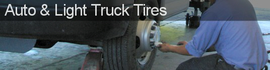 We sell and service all types of tires for autos, cars, light trucks and vans